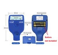 Automotive Paint Meter Digital Coating Paint Thickness Meter Tester Gauge with Fe/NFe Measuring Principle 0 to 2000um Range