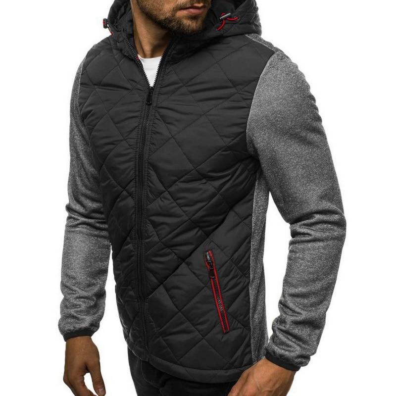 Men Jacket Autumn Winter Style Light Weight Overcoat Outerwear Warm Polyester Casual Black Men's Jacket Chaqueta Hombre