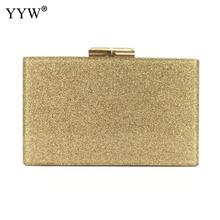 YYW Acrylic Clutch Bag Women Luxury Gillter Evening Party Purse Box Female Crystal Day Wallet Wedding