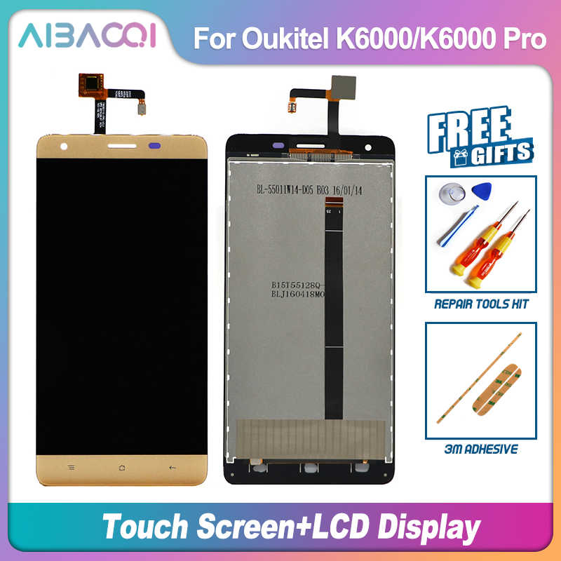 AiBaoQi Per Touch Screen da 5.5 pollici + 1920x1080 Display LCD Assembly di Ricambio Per Oukitel K6000/K6000 Pro /K6000Pro Android 7.0