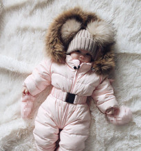 Infant Baby Girls Cute Jacket Hooded Long Sleeve Puffer Warm Thick Coat Outerwear Jumpsuit Winter Snowsuit Coat Romper clothing brand baby infant girls fur winter warm coat 2018 cloak jacket thick warm clothes baby girl cute hooded long sleeve coats jacket