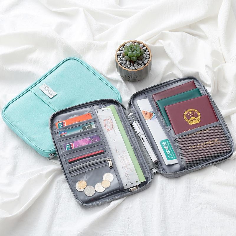 Travel Wallet Passport Covers Holder Card Package Credit Card Holder Wallet Organizer Travel Accessories Document Bag Cardholder