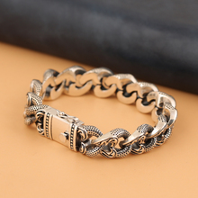 Silver Men Bracelet Tank-Chain Retrosen New Gift Hipster Korean Domineering Chinese-Style