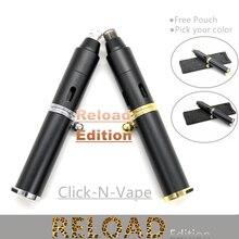 Clique n vape hit caneta kit tubo recarga edição esgueirar se um toke com tocha butano mais leve para erva seca vaporizador