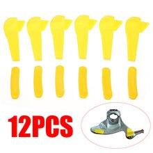 Mayitr 12 pçs amarelo plástico pneu trocador montagem desmontar pato cabeça inserção aro protetor acessórios ferramenta
