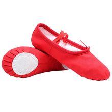 Baby Girl Canvas Cotton Ballet Pointe Dance Shoes Gymnastics Slippers Yoga Flats E65D