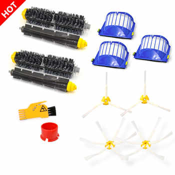 for iRobot Roomba Vacuum Cleaner Spare Part main brush side brush air filter HEPA 600 690 620 630 650 660 671 680 605 621 631 - DISCOUNT ITEM  12 OFF Home Appliances