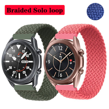 Band for samsung galaxy watch 46/42mm active 2 gear s3 frontier braided solo loop fabric Bracelet huawei watch gt 2 strap 20/22m