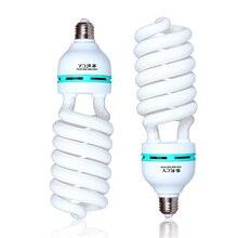 Bombillas fluorescentes de luz diurna de espectro completo para fotografía 135 vatios, Base de alto brillo E27 para estudio de vídeo y fotografía