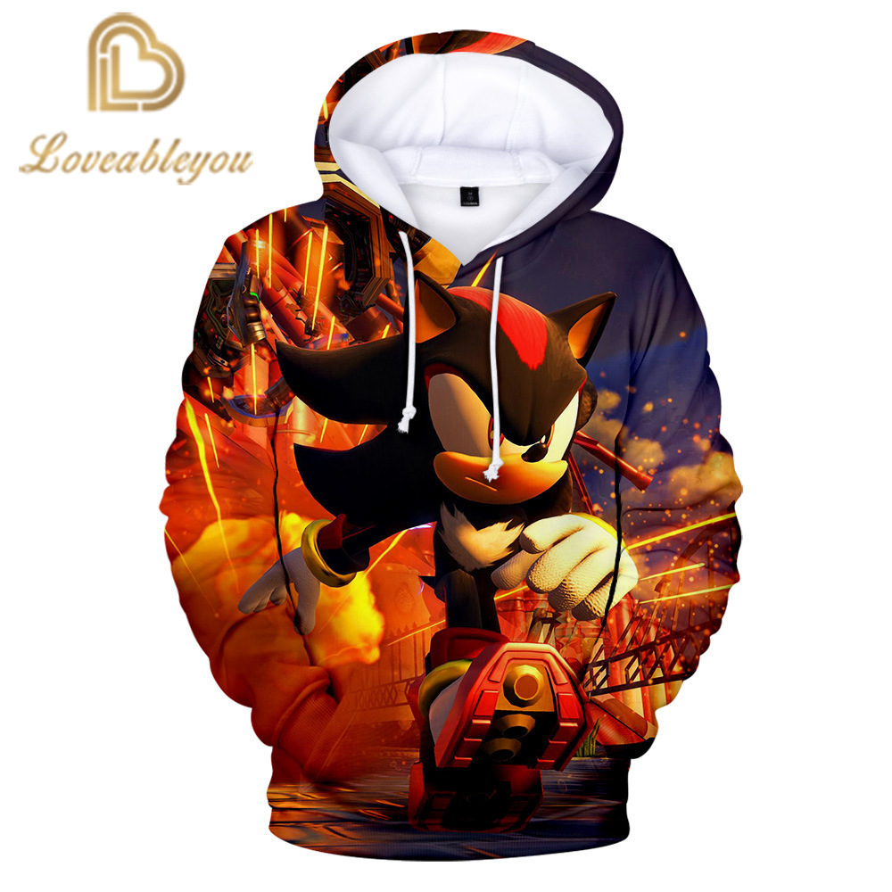 New Arrival Anime Sonic Hoodie 3D Printed Hooded Sweatshirts Men Women Fashion Casual Pullover Funny Streetwear Hoodies