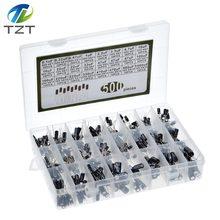 500 unids/lote diy 0,1 UF 1000UF 24 valores condensadores electrolíticos de aluminio 16-50V mezcla condensador electrolítico kit surtido set box