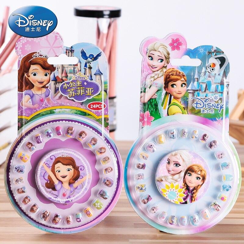 Disney Princess Frozen Elsa And Anna Sophia Makeup Toy Nail Stickers Mermaid Mickey Minnie Sticker Toys For Children Girl Gift