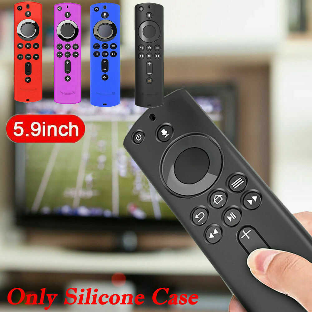 Home Protective Case Silicone Remote Control Cover Durable Lattice Design Anti Slip Lightweight Soft For Fire TV Stick 4K