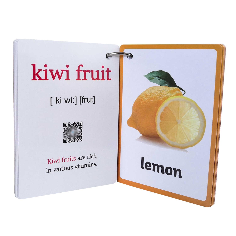 Tarjeta de palabras de aprendizaje de inglés para bebés y niños, memoria Flash de bolsillo, juguetes educativos Montessori, mesa de palabras, juego de cartas para niños