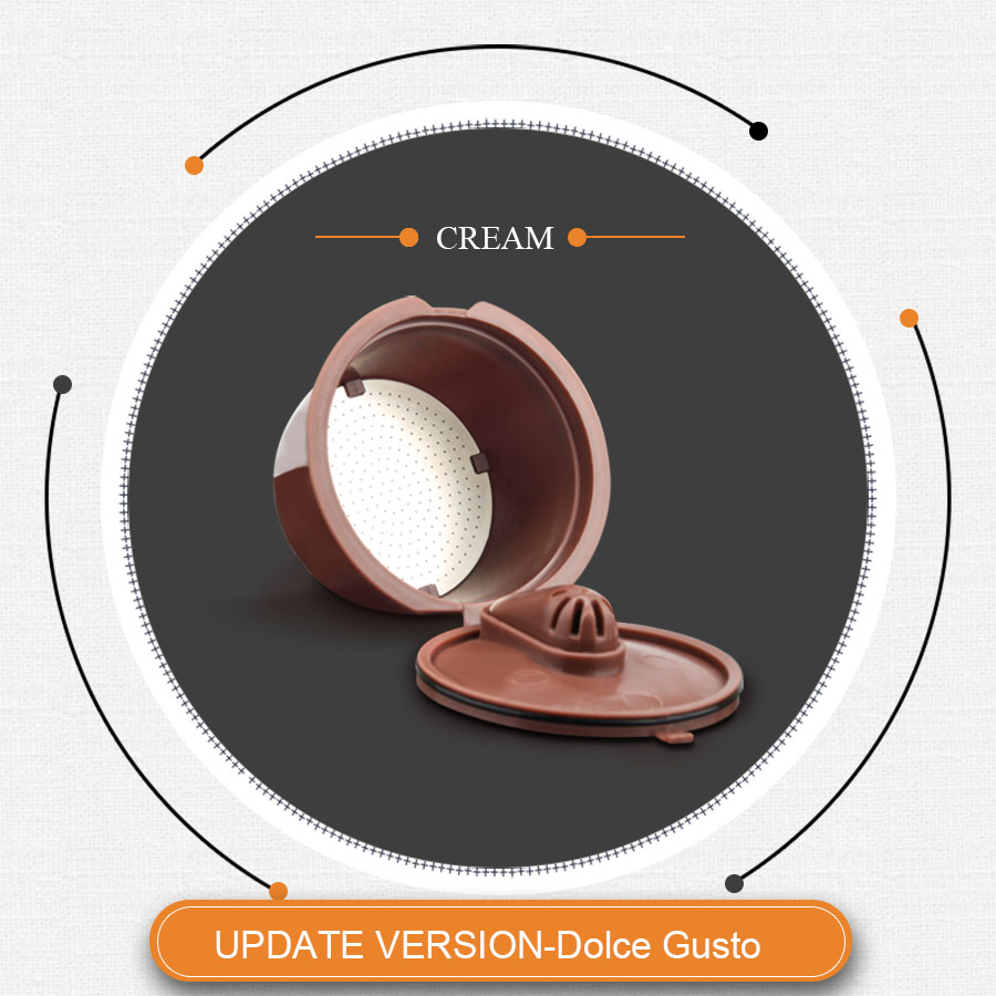 Dripper Crema Update Coffee Capsule Stainless  Steel Filter For Dolce Gusto Cafeteira Refillable Reusable Coffee Cup Baskets