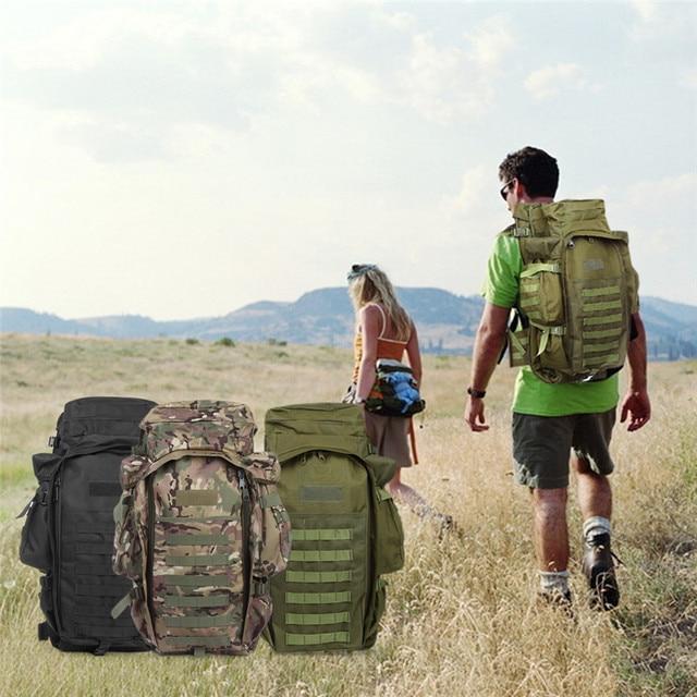 Outlife 60L All'aperto Zaino Tattico Militare Borsa Zaino zaino per la Ripresa della Caccia di Campeggio Trekking Trekking Viaggio