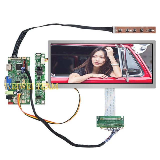 10.3 אינץ IPS Pro LCD תצוגת 1920x720 נמתח בר LCD אולטרה רחב מסך 50 סיכות LVDS VGA HDMI בקר לוח עבור רכב