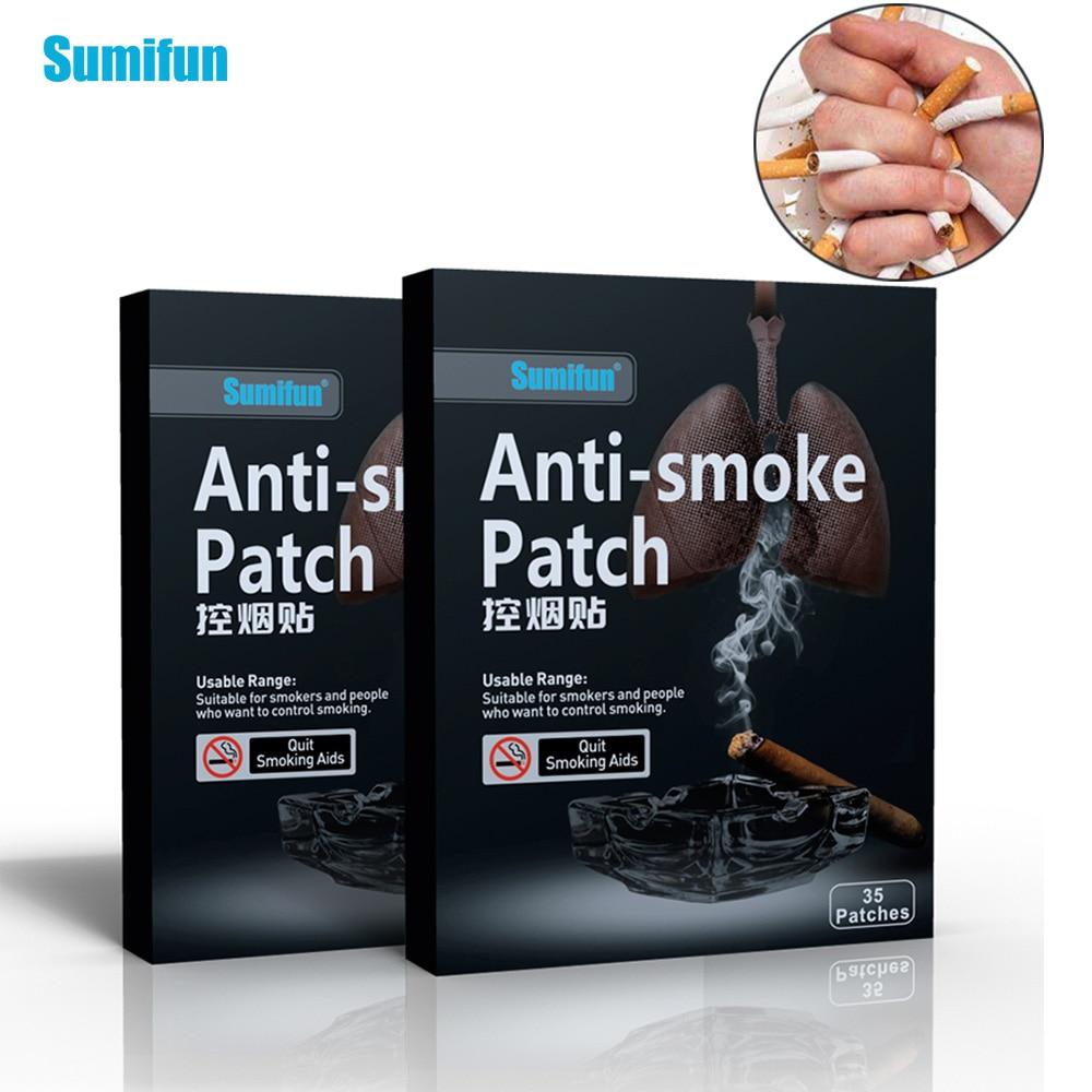 Sumifun 70 шт/2 Коробки анти-дым патч курить естественных трав, китайская формула курения крем медицинский пластырь D0583