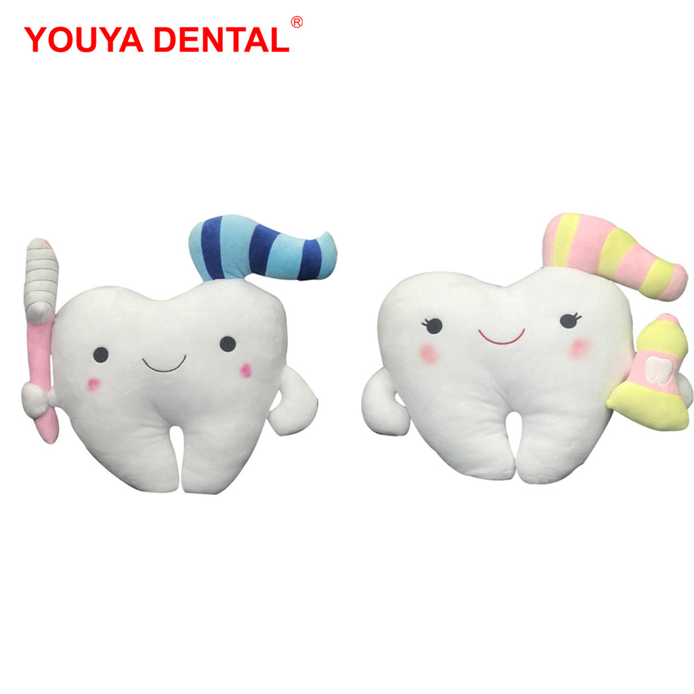 Lovely Tooth Shaped Cushion Dental Ornaments And Gifts Tooth Fairy Pillow Earlier Education Children's Tooth Brushing Teaching
