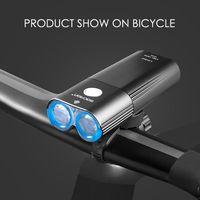 Bike Kopf Lichter Wasserdichte USB Lade 1800lm Radfahren Nacht Fahrt Front Lampe XXFC