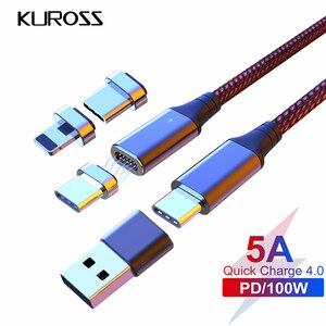 100 Вт Магнитный PD Быстрая зарядка микро кабель Тип C к Type C кабель для передачи данных для MacBook iPhone 11 Pro MAX SAMSUNG S20 Ultra S10 + QC4.0