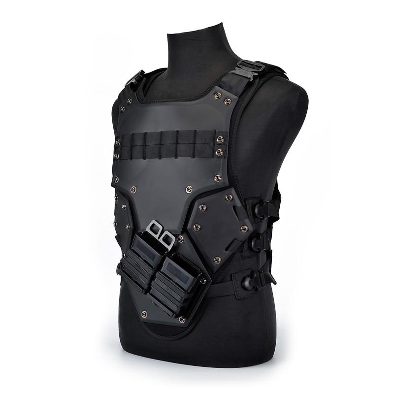 Chaleco de caza de camuflaje EVA TF3, chaleco militar, armadura de cuerpo al aire libre Swat, chaleco negro de combate de Paintball con bolsas M4 Mag LYZ, tácticas SWAT, escudo, juguetes para juego de callos