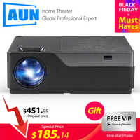 AUN Full HD Projector M18UP, 1920x1080P, Android 6.0 WIFI Video Beamer, LED Projector for 4K Home Cinema (Optional M18 AC3)