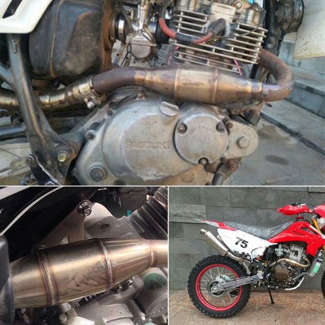 Motorcross Motorcycle Exhaust Pipe Muffler Catalyst Expansion Chamber For KTM CRF RMZ DRZ YZF KXF CRF WRF WR YZ Pit Bike Exhaust