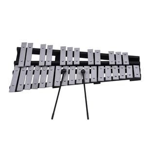 Image 2 - 30 ملاحظة قابلة للطي glockenspel إكسيليفون إطار خشبي قضبان ألومنيوم تعليمية قرع آلة موسيقية هدية