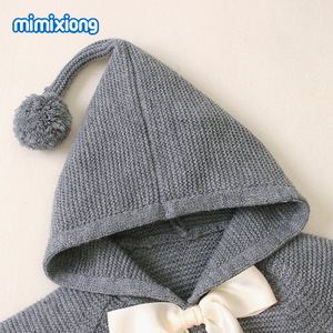Image 5 - ホット販売ベビーニット弓付きセータートップス春の新作秋かぎ針幼児の子供服セーター