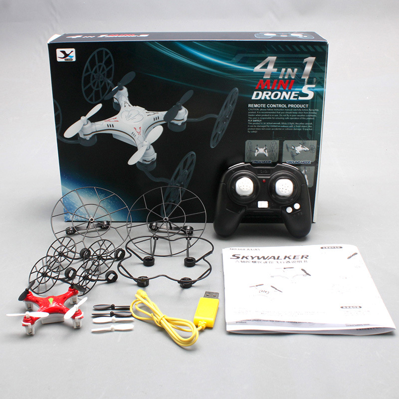 4 In One Remote Control Mini Quadcopter Remote Control Aircraft Unmanned Aerial Vehicle UFO Drop-resistant Aviation Model
