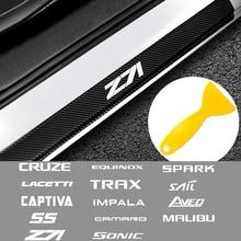 4 шт., защитные наклейки на порог автомобиля Chevrolet Cruze Lacetti Captiva SS Sail и т. Д.