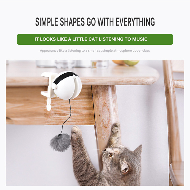 Electric Automatic Lifting Cat Ball Toy Interactive 5