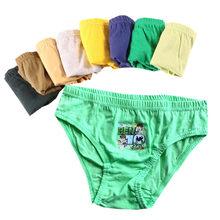 12 pçs/lote cor pura meninos calcinha algodão cueca shorts crianças briefs roupas crianças calças