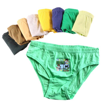 12pcs/Lot Pure Color Boys Panties Cotton Underwear Shorts Kids Briefs Clothes Children Pants - discount item  19% OFF Children's Clothing