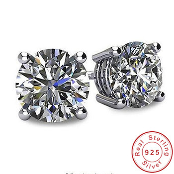 Solitaire 3ct Lab Diamond Gemstone Stud Earring 100 Real 925 sterling silver Jewelry Engagement Wedding Earrings.jpg 350x350 - Solitaire 3ct Lab Diamond Gemstone Stud Earring 100% Real 925 sterling silver Jewelry Engagement Wedding Earrings for Women men