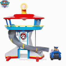 Paw patrol Headquarters collection dog patrol watchtower track rescue racing toy base model gift поло print bar watchtower in evening