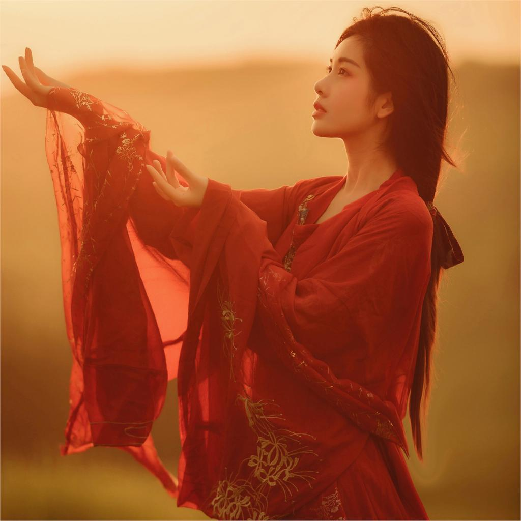 2019 Chinese Traditional Women Hanfu Dress Chinese Fairy Dress Red White Hanfu Clothing Tang Dynasty Chinese Ancient Costume