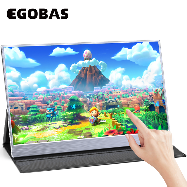 15.6inch Portable Monitor Touchscreen IPS 1080P HDR Gaming Monitor USB C HDMI-compatibe for Switch Smartphone Laptop PS4 XBOX 2