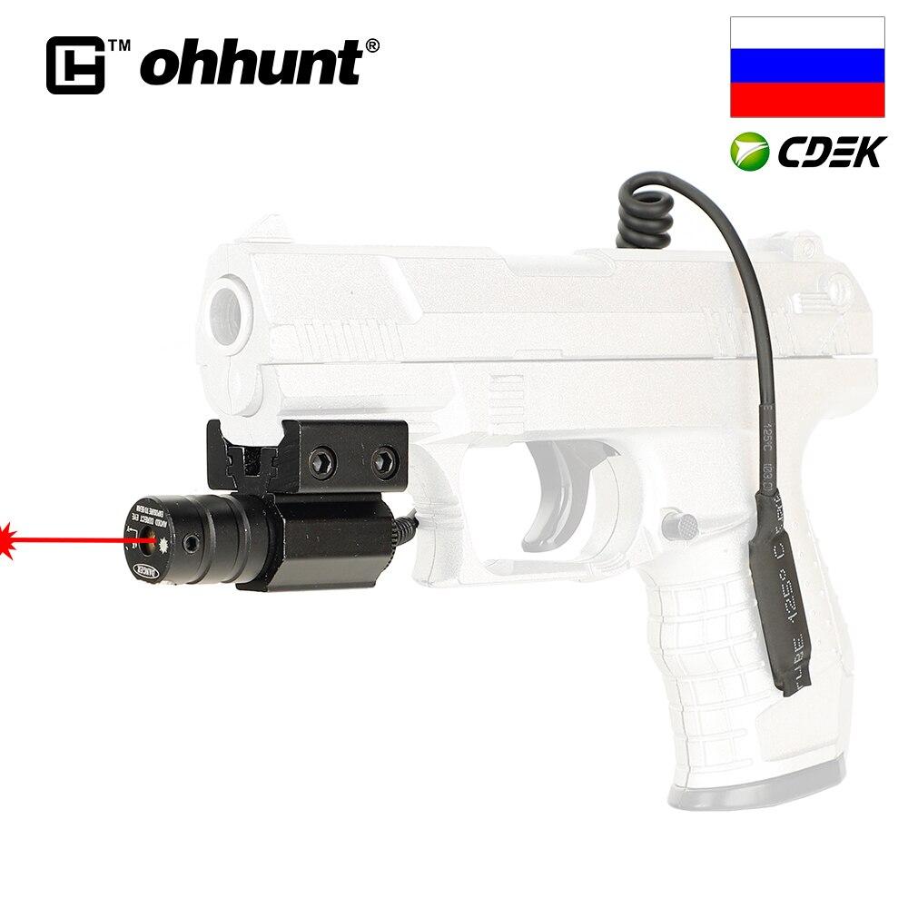 Тактический Ohhunt Red Dot мини Красный лазерный прицел 11 мм/20 мм Пикатинни крепление с дистанционным переключателем давления для пневматической...