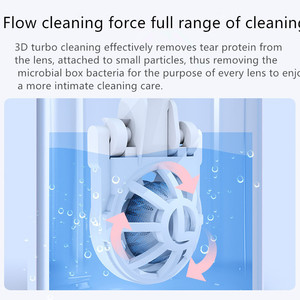 Image 3 - Contact Lens Washer Luxury Gradient Contact Lenses Cleaning Tools Portable Contact Lens Cleaner Ultrasonic Automatic Cleaner