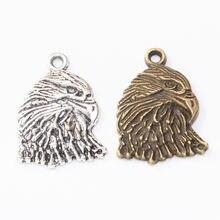 30 pçs 35x25mm artesanal liga antigo pássaro águia encantos de metal vintage pingentes para pulseira colar brinco diy jóias fazendo