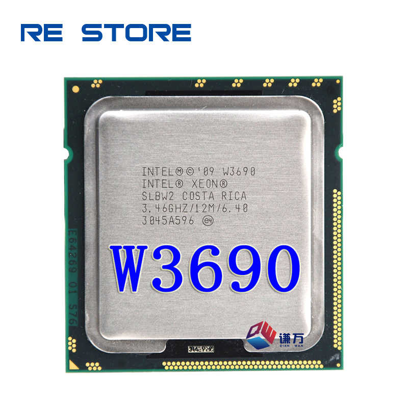 Intel Xeon W3690 3.4GHz 6-Core Dua Belas-Thread Prosesor CPU 12M 130W LGA 1366
