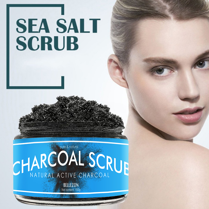 150g Exfoliating Scrub Bamboo Charcoal Facial Cleanser Nourishing Cleanser Moisturizing Face Body Wash Anti-spot Scrub