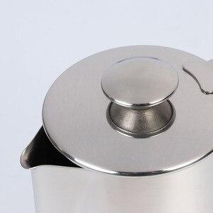 Image 2 - 600ml נירוסטה לאטה אמנות כוס עם מכסה חלב קצף כוס קפה סט
