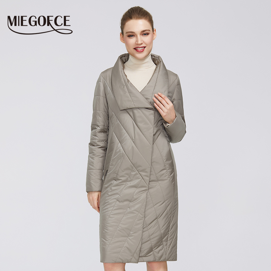 MIEGOFCE 2020 New Spring Collection Women's Coat Warm Jacket With Medium Length And Resistant Collar Has Double Cold Protection