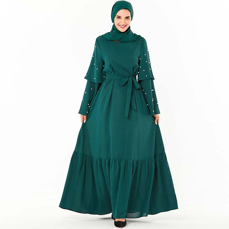 Plus Size Arabic Abaya Dubai Muslim Hijab Dress Turkish Dresses Ramadan Islamic Clothing For Women Jilbab Caftan Marocain Kaftan