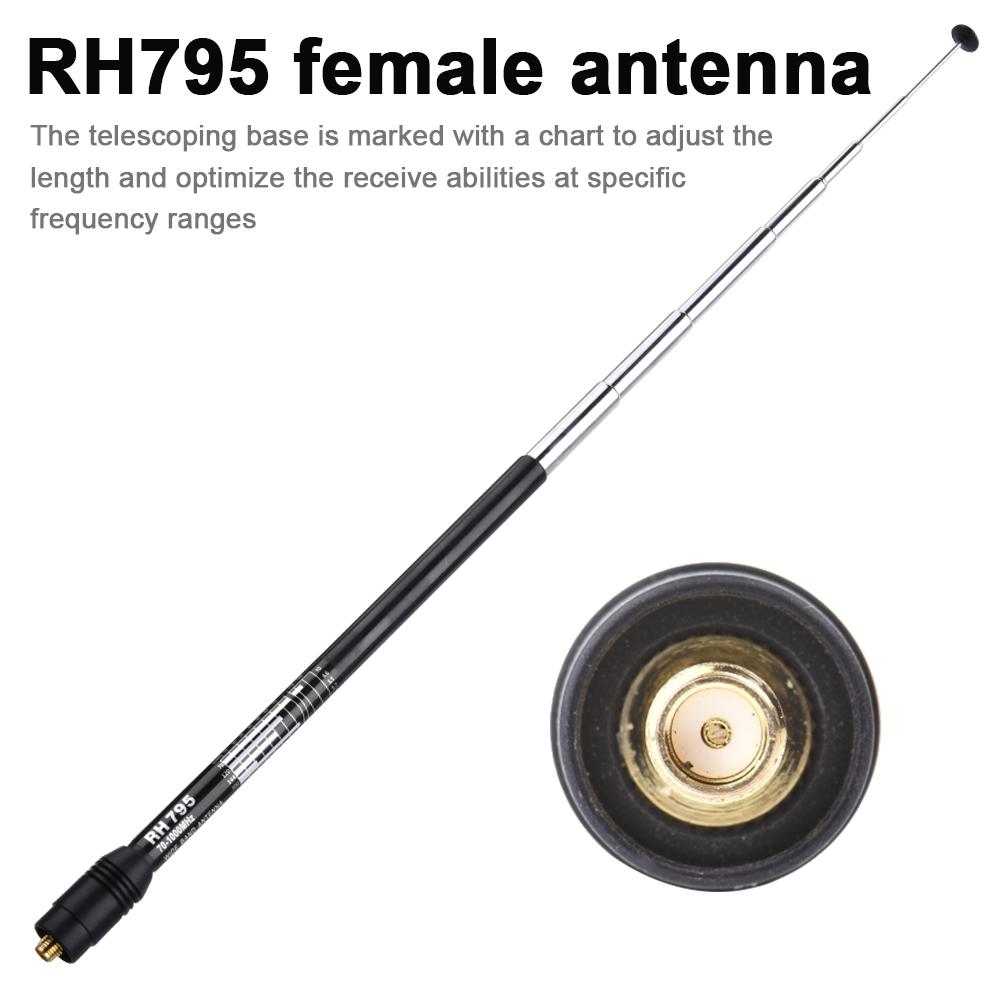 RH795 Female Antenna SMA Female Wide-band 70-1000MHz Police DIGITAL SCANNER Handheld Antenna