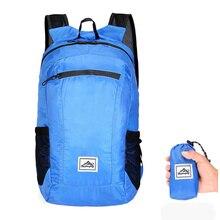 20л легкий портативный складной рюкзак, водонепроницаемый рюкзак, складная сумка, сверхлегкий рюкзак для женщин и мужчин, для путешествий и пеших прогулок