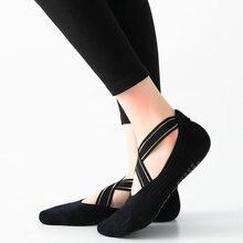Chaussettes de Yoga à bandes de haute qualité, chaussettes de Pilates à fond antidérapant, respirantes, à séchage rapide, dos nu, danse de Barre, 2020